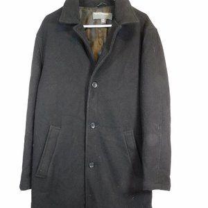 Perry Ellis Men's Black Wool Coat MCL34360520